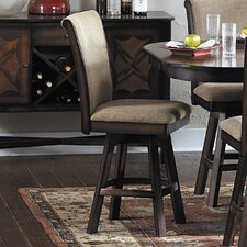 "Westwood 24"" Swivel Bar Stool with Cushion (Set of 2)"