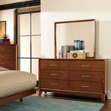 Soren 6 Drawer Dresser with Mirror