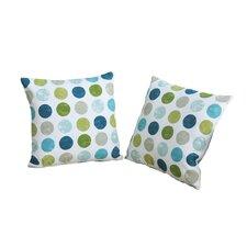 Dots Polyester Throw Pillow (Set of 2)