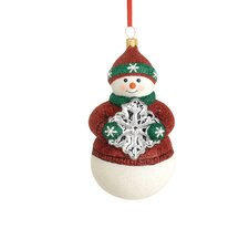 Christmas Reflections Snowflake Snowman Ornament