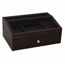 Jackson Valet / Jewelry Chest in Mahogany