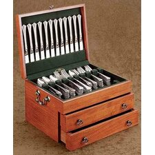 Bristol Grande Cherry Silverware Chest with Forest Green Lining