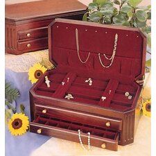 Corinthian Mahogany Jewelry Chest with Dior Red Lining
