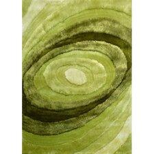Living Shag Shades of Green Rug
