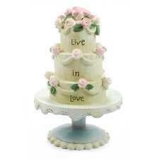 """Live in Love"" Wedding Cake Sculpture (Set of 6)"