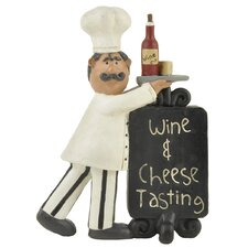 """""""Wine & Cheese Tasting"""" Plaque with Chef (Set of 4)"""