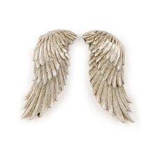 Vintage Silver Wing Sculpture