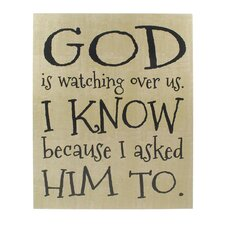 God is Watching Hanging Sign Wall Decor (Set of 2)