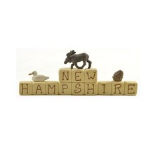 New Hampshire Letter Block (Set of 4)