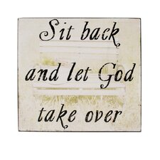 Let God Take Over Box Sign Wall Art (Set of 4)