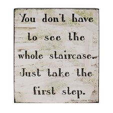 Take First Step Box Sign Wall Art (Set of 2)