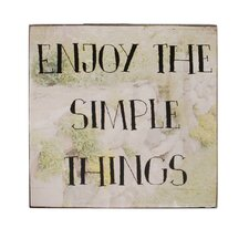 Simple Things Box Sign Wall Art (Set of 4)
