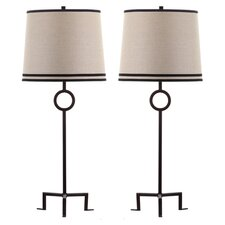 """Shotwell 36"""" H Table Lamp with Empire Shade (Set of 2)"""