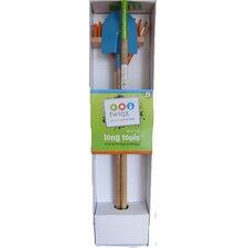 4 Piece Long Gardening Tools for Kids Set