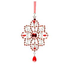 Crystal Star Holiday Ornament (Set of 2)
