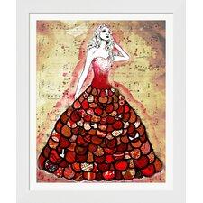 'The Red Dress' by Jennifer Lee Framed Graphic Art