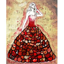 'The Red Dress' by Jennifer Lee Graphic Art