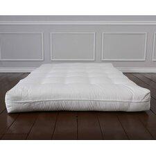 """Luxury Natural Wool 8"""" Foam Core Futon Mattress"""