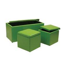 3 Piece Storage Ottoman Set