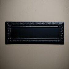"""10"""" x 25"""" Metal Hand-Painted Tile in Black"""