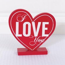 I Love You Heart On Base Wall Decor