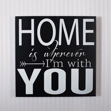 Home with You Sign Wall Décor