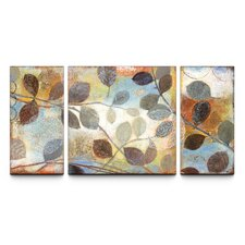 'Autumn Muse' Textured 3 Piece Painting Print on Canvas Set