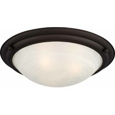 Lunar 3 Light Ceiling Fixture Flush Mount