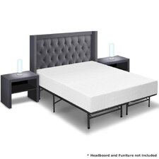 "10"" Memory Foam Mattress and Bed Frame Set"