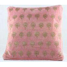 Handblocked Cotton Throw Pillow