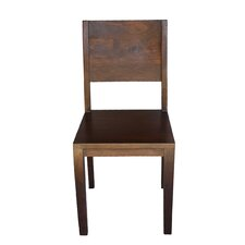 Simple Acacia Wood Side Chair (Set of 2)