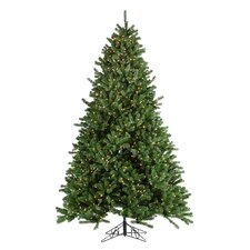 9' Green Grand Canyon Spruce Christmas Tree with 1500 Clear Lights with Stand