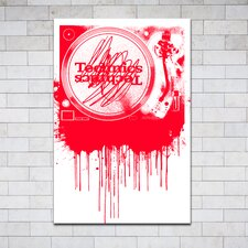 """Melting Turntables Red"" Canvas Art"