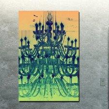 """Tower Of Light Yellow"" Canvas Art"