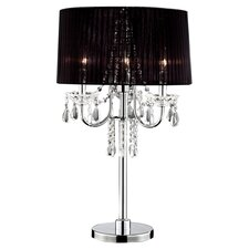 "Crystal Drop 27.5"" H Table Lamp with Drum Shade"