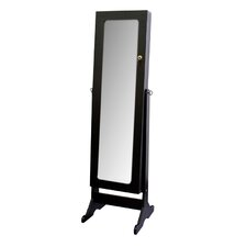 Standing Mirror with Locked Storage