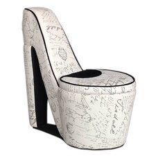 Old World High Heel Storage Side Chair