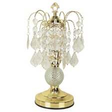 "Glass 15"" H Table Lamp with Novelty Shade"