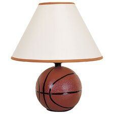 """Ceramic Basketball 5.75"""" H Table Lamp with Empire Shade"""