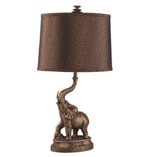 "Elephant 26.5"" H Table Lamp with Drum Shade"