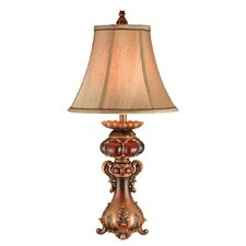 """1 Light Traditional 31"""" H Table Lamp with Empire Shade"""