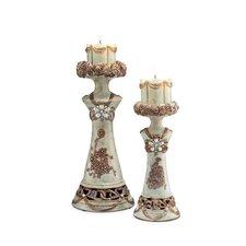 Vintage Rose 2 Piece Candle Holder