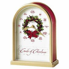 Musical and Chiming Carols of Christmas Holiday Table Clock