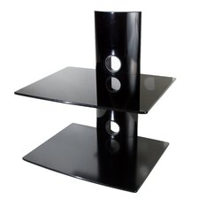 Dual Glass DVD/DVR/Component Wall Mount Shelf