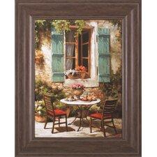 Outdoor Café by Steven Harvey Framed Painting Print
