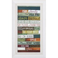 Our Family Rules by Marla Rae Framed Textual Art