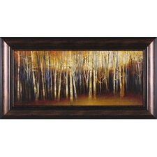 October Treescape Framed Painting Print