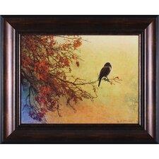 Snow Oak Junco by Chris Vest Framed Painting Print