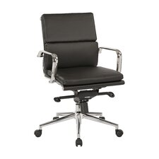 Adjustable Mid-Back Eco Leather Conference Chair