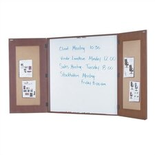 Napa Presentation Wall Mounted Enclosed Whiteboard, 4' x 4'